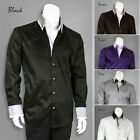 Men's Stylish George Fashion Dress Shirt All Sizes and 6 Colors 605