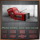' Banksy Red London Phone Box '  Graffiti Art Canvas More Color & Style & Size