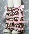 Baby Girl Giraffe Pink Lace Leg Warmer Stocking Accessory For Pettiskirt 2-6Year