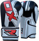 RDX Leather Gel Boxing Gloves Fight Punch Bag MMA Training Grappling Pad Kick T8