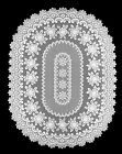 """Heritage Lace Rose Tablecloth 52"""" x 72"""" Oval - Colors: Ecru and Off-White"""