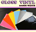 【Gloss】 Vehicle Wrap Vinyl Sticker ALL COLOUR/ ALL SIZE 600mm width