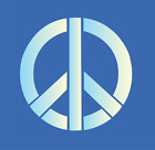 Hippie STENCIL Peace Sign Symbol Love 70's Craft Wall Art T-shirt Tattoo U Paint