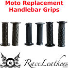 BLACK MOTO REPLACEMENT HANDLEBAR GRIPS FOR MOTORCYCLES QUADS AND SCOOTERS