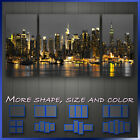 New York City Manhattan At Night Skyline 'Cityscape Modern Abstract Canvas Deco