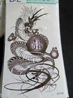 SHEET MENS BOYS BLACK ANGRY CHINESE DRAGON ORB DESIGN TEMPORARY TATTOOS 20x10cm