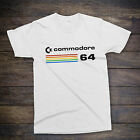 COMMODORE 64 [C64] COMPUTER T-SHIRT , Retro Classic 80s Video Games / PC Gaming