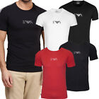 Mens Emporio Armani T-Shirts Stretch Cotton Mid Chest Logo