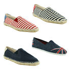 New Mens Canvas Plimsolls Slip On Plims Espadrilles Trainers Shoes Size UK 6-12