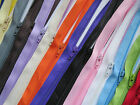 """16"""" 18"""" 20"""" 24"""" Closed End Zips Zippers Assorted Colours"""