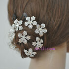 10/50pcs Women Bride Wedding Elegant Crystal Flower Hairpin Fashion 0305BZ cute