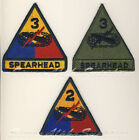 US STYLE ARMY 2nd & 3rd ARMOUR DIVISION COLOUR & SUBDUED SEW ON BADGE,NOT VELCRO