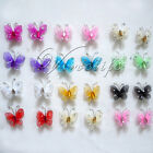 "50 of 1""(2.54cm) Nylon Glitter Artificial Butterfly Rhinestone Wedding Favor"