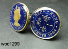 Hong kong coin cufflinks 10 cent King George VI(1948-1951)or Queen Elizabeth II
