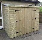 16mm Tanalised garden wood Bike store Shed length & Width options Height 6'-6'6