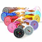 Lovely Big Dial Lady Girl Women Sweet Candy Leather Quartz Watch