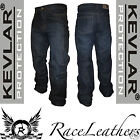 RS RIDER MENS KEVLAR REINFORCED DENIM MOTORCYCLE MOTORBIKE BIKE JEANS TROUSERS