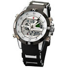 Porbeagle Shark Mens Army LCD Date Day Sport Silicone Watch+Maple Metal Bookmark