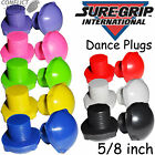 "SUREGRIP Formac ""Jam Plugs"" Stops 5/8 inch thread Dance Plugs Choose Colour"