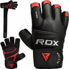 RDX Weight Lifting Gloves Fitness Gym Training 100% Leather Bodybuilding Workout <br/> Subtitle:  ✅Over 5,900 Sold ✅Long Wrist Strap ✅ Padded