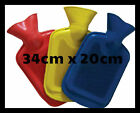 SMALL OR 2L LITRE LARGE RIBBED RUBBER HOT WATER BOTTLE HOTWATER JAR WINTER BED