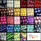 10mm Glass Pearl Beads -  50 or 100 beads per pack - Free UK Postage