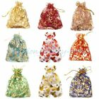 100/10pcs Gauze Organza Bag Jewelry Packing Pouch Wedding Gift Bags 10x12cm