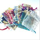50 / 100 pcs 7x9cm or 17x23cm Mixed Pattern & Colours Organza Gift Bags