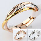 A1-R207 Fashion 1.5mm Width Plain Triple Band Rolling Ring 18KGP