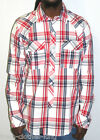 L-R-G LIFTED RESEARCH GROUP Button Up Shirt New Mens $59 Woven Plaid Choose Size