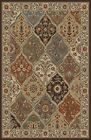 PERSIAN multi TRADITIONAL floral AREA rug RED ivory BLUE panel PATCHWORK carpet