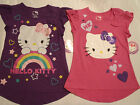 HELLO KITTY Girls S M L or XL Pink Purple Choice Short Sleeve Cotton Shirt NWT