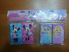 DISNEY PACK OF 6 NOTEPADS MINNIE MOUSE OR PRINCESS STOCKING STUFFERS OR FAVORS