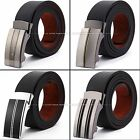 KS Men's Luxury Authentic Leather Adjustable Auto Lock Buckle Belt 50 In Inches