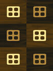 CHOCOLATE brown MODERN contemporary CHECKERED cubes BEIGE squares AREA rug