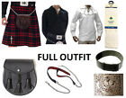 8 Yard Scottish Kilt Package, Complete Standard Casual Outfit, MacDonald Tartan