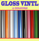 GLOSS 【1520 MM r x 15 Meter 】Vehicle Wrap Vinyl Sticker Air /bubble Free