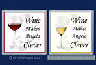PERSONALISED RED OR WHITE WINE DRINKS COASTER - BIRTHDAY CHRISTMAS GIFT NOVELTY