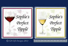PERSONALISED WHITE or RED WINE DRINKS COASTER - BIRTHDAY CHRISTMAS GIFT NOVELTY