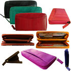 Genuine Eel Skin Leather Zippered Wallet Zipper Purse Zip-Around Wallet