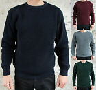 Waffle Knit Jumper Thick Winter Ski Sweater Retro New Black Green Burgundy Red