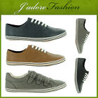 NEW MENS LACE UP FLAT CASUAL RETRO STYLISH LOAFERS PLIMSOLES SHOES SIZES UK 6-11