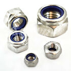 A2 STAINLESS NYLOC INSERT NUTS, STANDARD PITCH, DIN985 NYLOC LOCK NUT TYPE T FWS