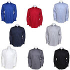 New Kustom Kit Mens Corporate Work Oxford Long Sleeve Shirt 10 Colours 14-23""