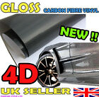 NEW 4D GLOSS【500mm x 1520mm AIR Free Carbon Fibre Vinyl】Wrap Textured 4 CAR