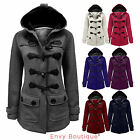 NEW LADIES WOMENS HOOD DUFFLE TRENCH HOODED POCKET COAT JACKET SIZE 8-20