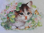 Kids KITTEN FLOWERS BUTTERFLY t shirt heat press design kids t-shirt kitty cat