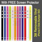 Ultra Thin 3M Vinyl Decal Skin Sticker For iPhone 5 Side Bumper + Screen Protect