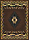 BROWN southwestern APACHE style NATIVE american GEOMETRIC carpet AREA rug