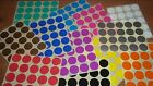 25mm (1 Inch) Stickers Labels Colour Code Dots Yellow Red Orange Blue Pink Green